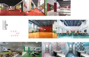 A representation of the school interior
